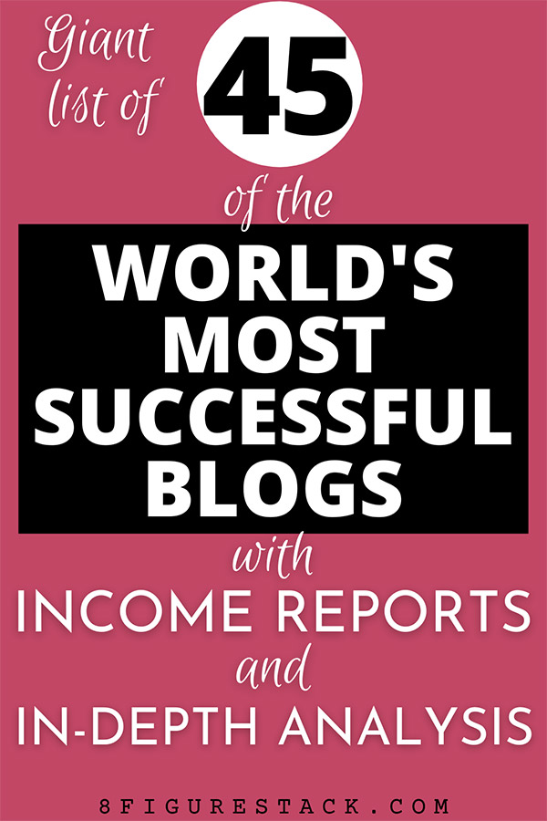 45 Of The World's Most Successful Blogs