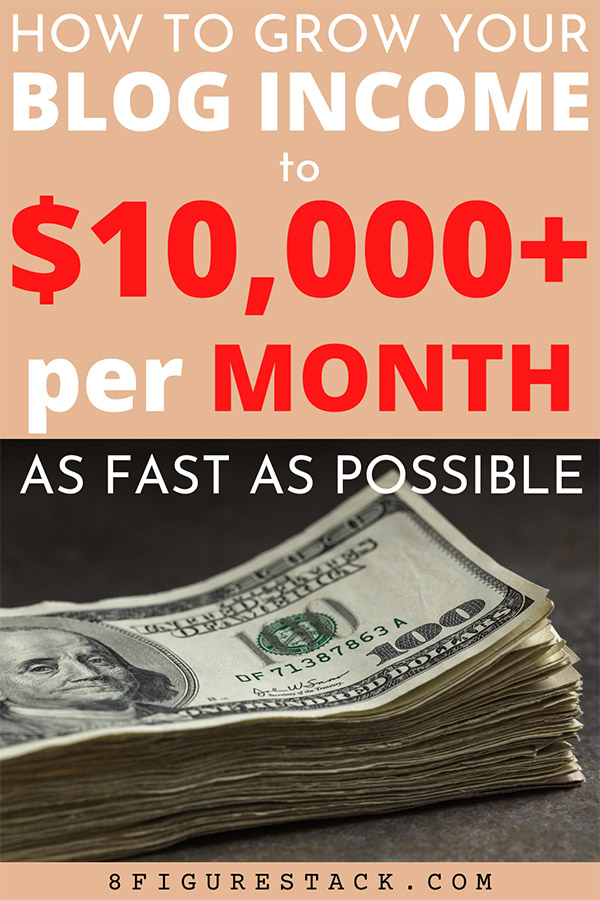 How To Grow Your Blog Income To $10,000+ A Month As Fast As Possible